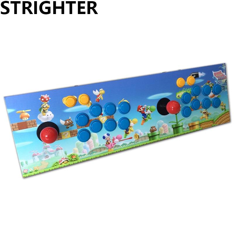 Prix pour Super Mario arcade joystick pc jeu d'ordinateur usb connecteur street fighters Joystick usb Fixes Double Consoles pour PC