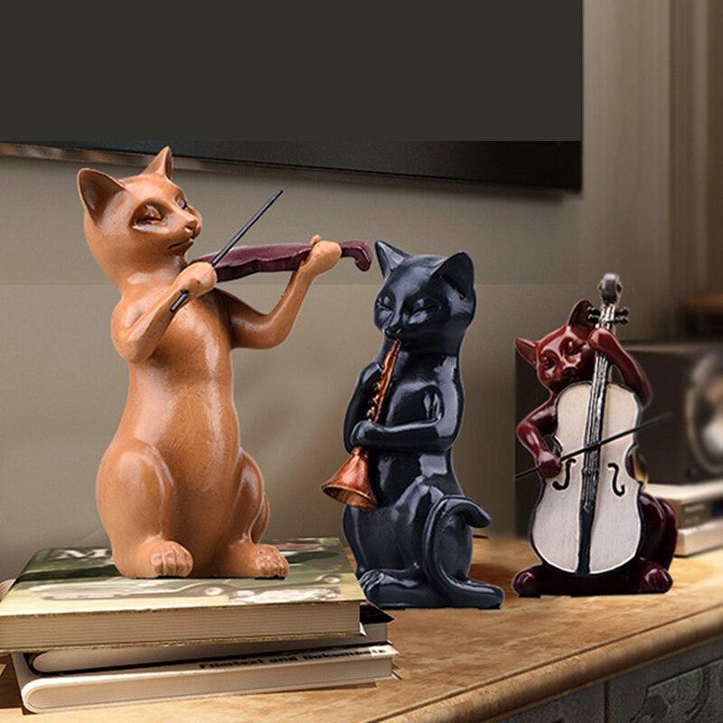 Music Cats Figurine  (4)
