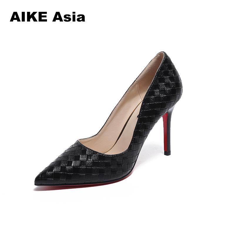 14CM Super High Heels  Crocodile Printed Metal Thin  Women Pumps Black White Pointed Toe Sexy Wedding Shoes Valentine Wedges