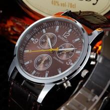 Fashion New Promotion High Quality Clock Hour Analog Leather Quartz Watch Fashion Trendy Men Wristwatches Timer
