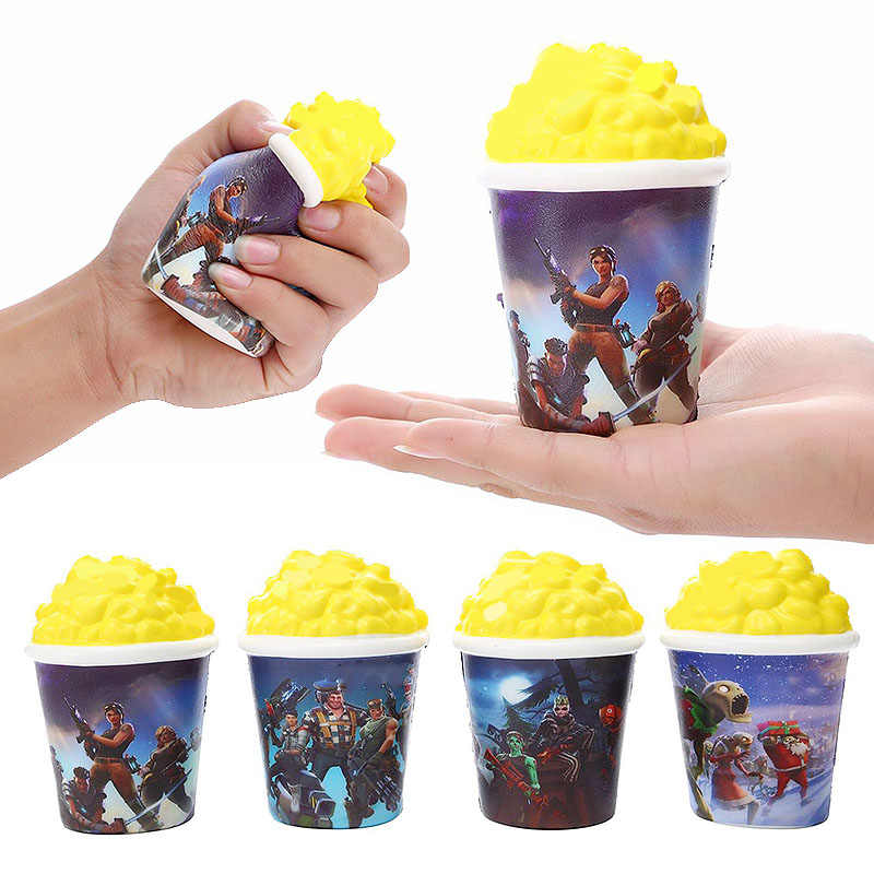1pc Fortnight Squishy Soft Slow Rising Simulation Popcorn Food Fort Night Squishies Squeeze Toy Battle Royale Relieve Pressure