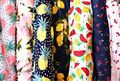 Thin Cotton Printed Fruit Lemon Pineapple Watermelon Cherry Fabric Garment Material Shirt Dress Tissu Sewing Textile 2027BL