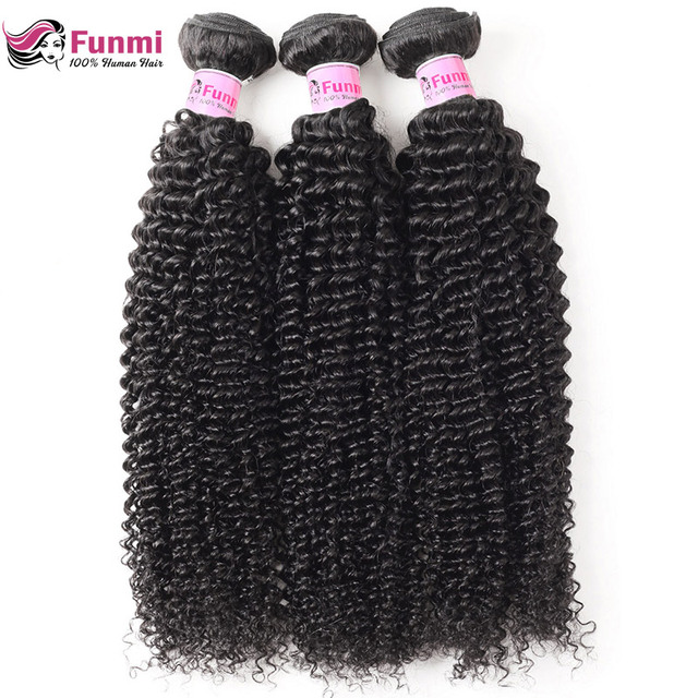 Mongolian Kinky Curly Virgin Hair Bundles Unprocessed Curly Human Hair Weave Bundles Funmi Hair Natural Color 1/3/4 Bundles