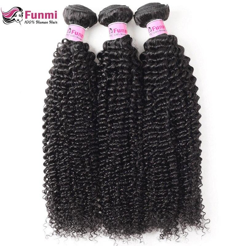 Mongolian Kinky Curly Virgin Hair Bundles Unprocessed Curly Human Hair Weave Bundles Funmi Hair Natural Color 1/3/4 Bundles