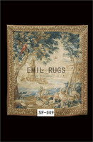 2014 Real Gobelin Picture Tapestry Wall Hanging Pure Wool Handmade French Gobelins Weave Tapestry 183cmx203cm 6'x 6.65'gc16tap9