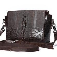 YISHIDUN Chinese style Retro first layer Genuine leather handbags Crocodile Grain Shoulder Bags Ms. handbag Messenger women bag