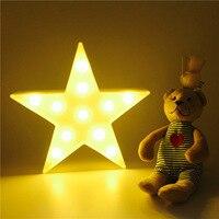 Marquee LED כוכבים לילה אור לבית חג מולד קישוט 3D אננס קקטוס שולחן אור לילה אור מנורת LED שיין פלמינגו