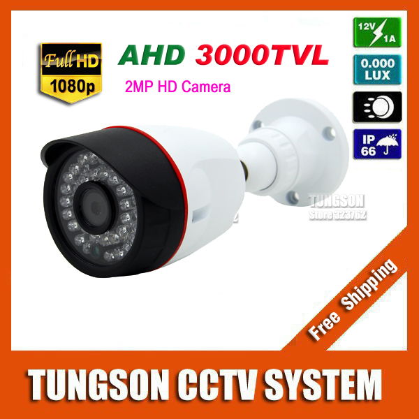 China New HD 2MP AHD 1080P CCTV Camera 3000TVL Outdoor Mini 36led infrared Bullet Security Video Surveillance Free shipping new 2mp hd cctv ahd camera 1080p zoom 2