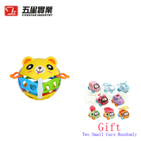 FS TOYS 1 PC 35805 Plastic cute bear baby rattle toys baby musical toy 0 12 month rattle toy for children Xmas present