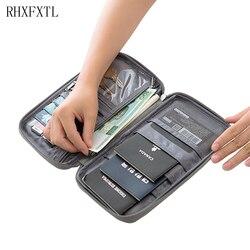 Rhxfxtl marca passaporte capas titular pacote de cartão de crédito titular do cartão carteira organizador de viagem acessórios saco de documentos titular do cartão