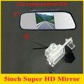 Fábrica nova promoção para Kia K2 Rio Hatchback Kia Ceed 2013 car estacionamento retrovisor camera + 5 polegada espelho monitor do carro TFT LCD