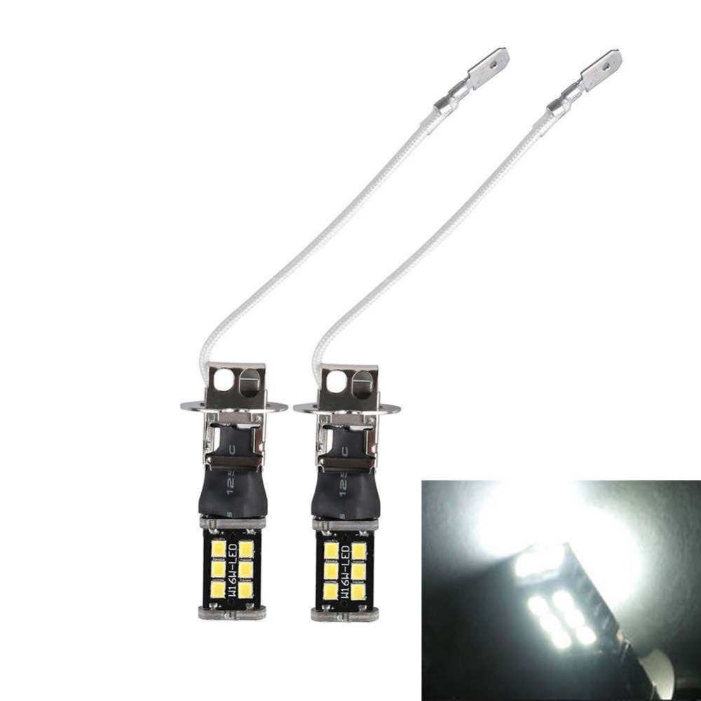 H3 15W LED Car Light Bulb 12V Super Bright White 6000K Auto Fog Lamp Driving Lamps DRL Daytime Running Lights Bulbs Universal in Signal Lamp from Automobiles Motorcycles