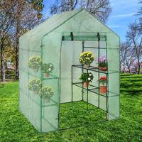 Portable Plastic Garden Greenhouse Cover Not Include Shelf For 2 Layer Mini Walk In Greenhouse Outdoor 40