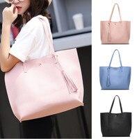 Ladies Designer Long Handle Tote Shoulder Handbag Reversible PU Leather Bag Fany Women Fashion Storage Handbags
