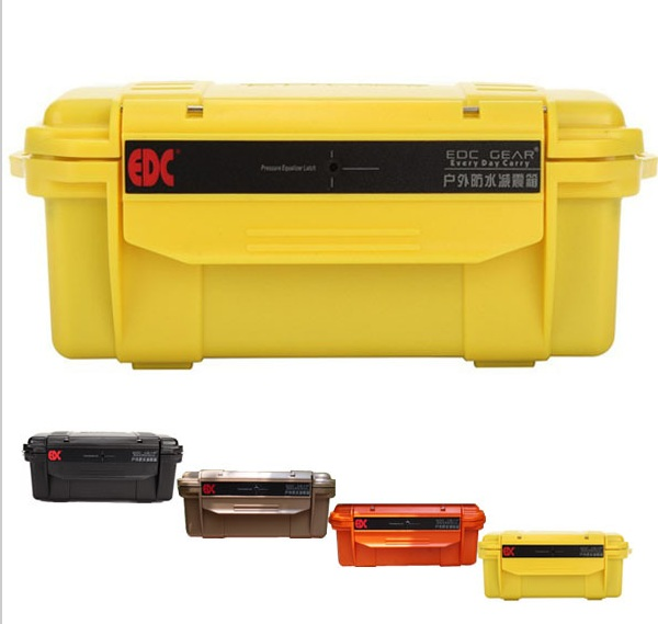 EDC Outdoor Waterproof box compression depth waterproof optional multi-color without cushion camping equipment color image compression