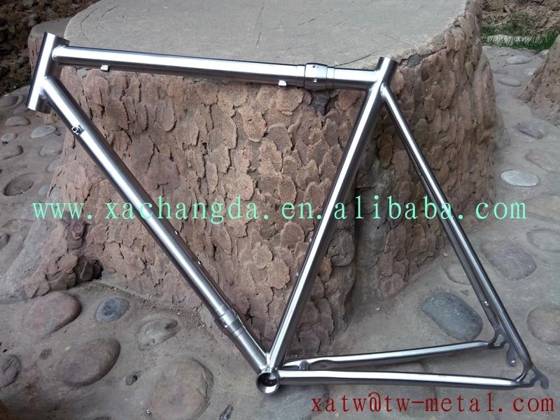 Titanio cuadro de la bicicleta camino 700C titanium S & S acoplador ...
