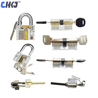 CHKJ 7pcs/lot Transparent Locks Combination Practice Locksmith Training Tools Visible Lock Pick Sets Free Shipping