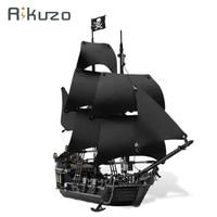 Rikuzo 804pcs Building Bricks Pirates Of The Caribbean The Black Pearl Ship Model Toys Compatible Legoing