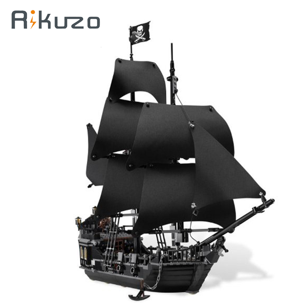 Rikuzo 804pcs Lepin 16006 Building Bricks Pirates of the Caribbean the Black Pearl Ship Compatible legoing DIY Toys Gift lepin 16006 804pcs pirates of the caribbean black pearl building blocks bricks set the figures compatible with lifee toys gift