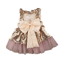 Baby girl clothes childrens clothing summer sleeveless sequin  dress girls
