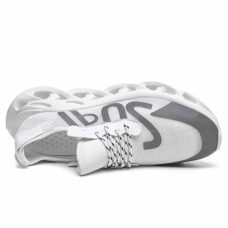 Распродажа Мужская обувь белого и черного цвета дышащая удобная спортивная обувь на плоской подошве прогулочная обувь - 5