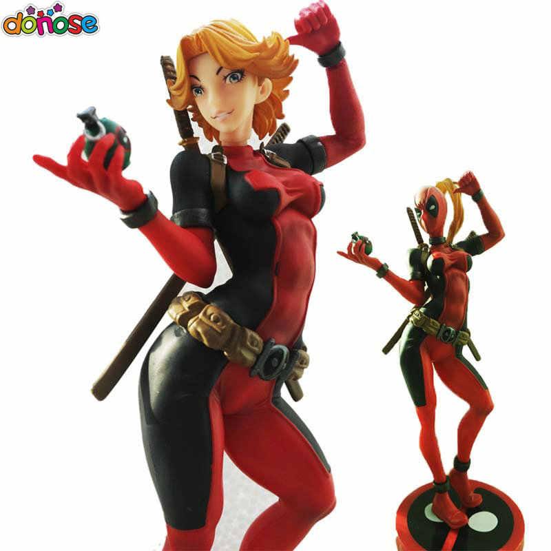 Senhora dos desenhos animados Deadpool Wanda Wilson de Earth-3010 Bishoujo Statue Figura Coleção Ação PVC Modelo Toy Kids Boneca
