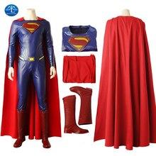 цена на Manluyunxiao Superman cosplay Halloween Costumes For Men Clark Kent Movie Justice League Superhero Outfit Jumpsuit Custom Made