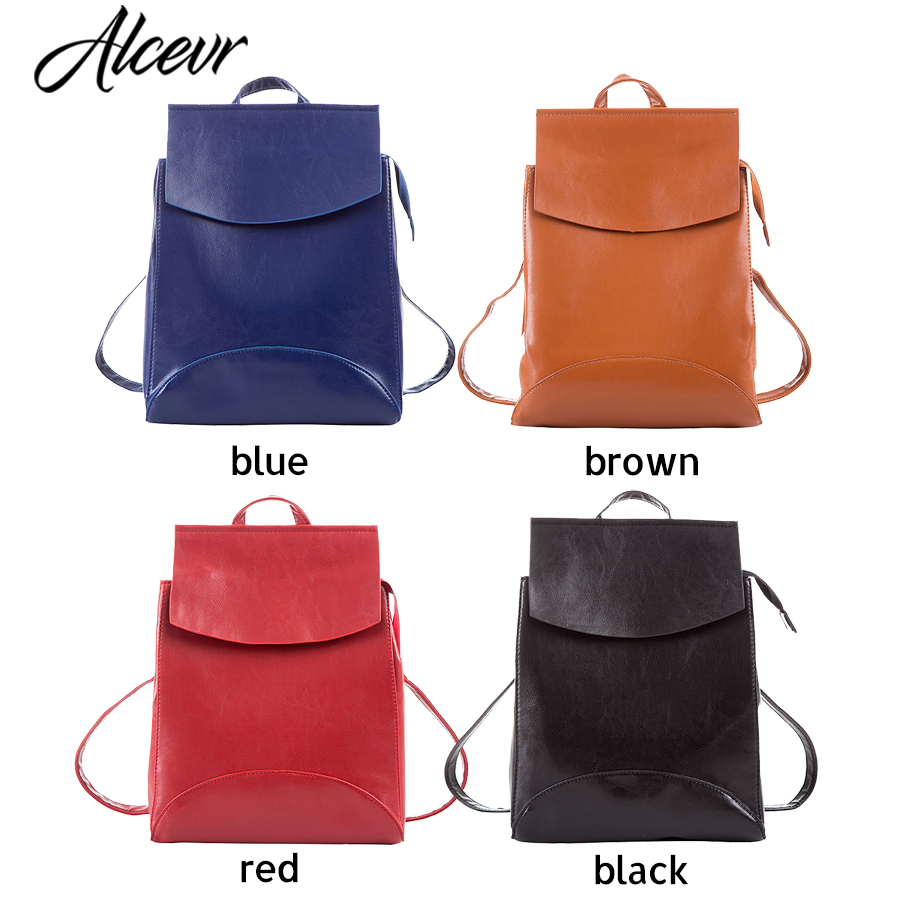 Alcevr Fashion Women Backpack High Quality Youth Leather Backpacks For Teenage Girls Female School Shoulder Bag Bagpack Mochila #5