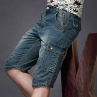 Denim Shorts Men Vintage Casual Shorts New Fashion Leisure Mens Patchwork Short Jeans Male Clothing Summer Shorts Breathable