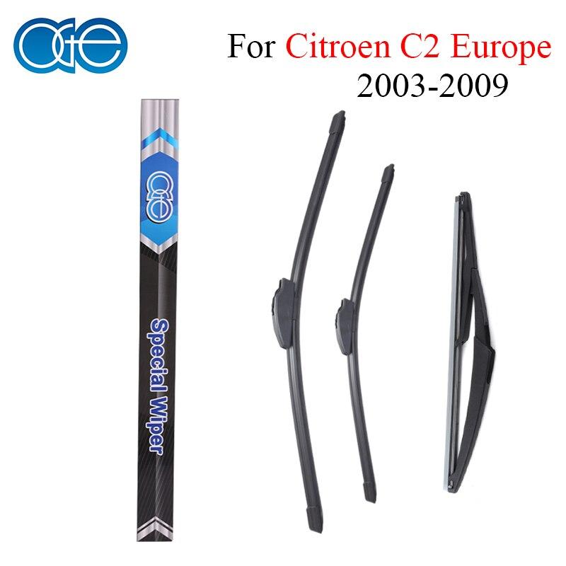 Oge Front & Rear Wiper Blade For Citroen C2 Europe Type 2003 2004 2005 2006 2007 2008 2009 Rubber Car Windscreen Accessories Great Varieties Automobiles & Motorcycles