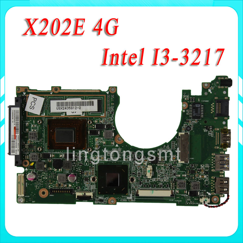 X202E X201E S200E X202E 2GB REV 2.0 Motherboard Processor i3-3217 4g Memory On Board 100 Tested wavelets processor
