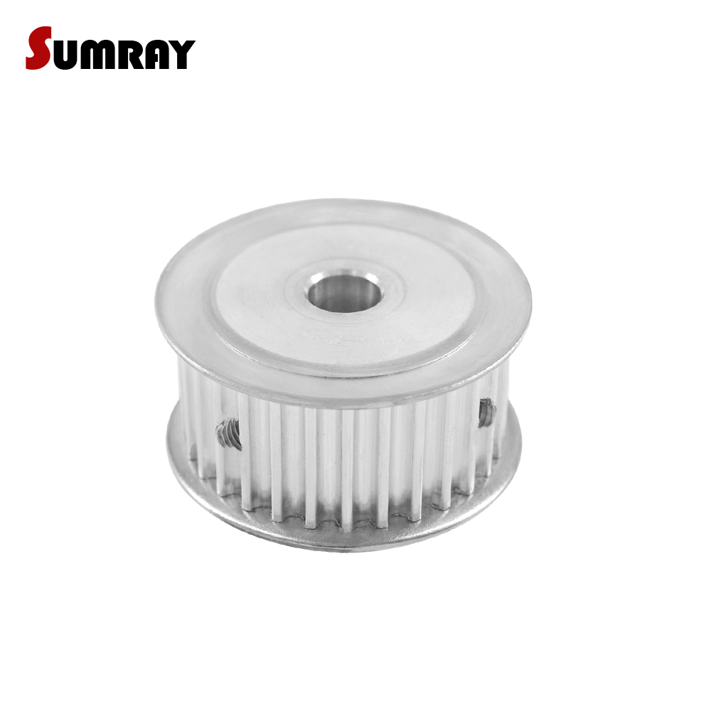SUMRAY 5M 30T Timing Pulley 6/6.35/8/10/12/12.7/14/15/16/17/19/20/25mm Thoothed Pulley 21mm Belt Width Synchronous Belt Pulley 8 shower rooms cabins pulley