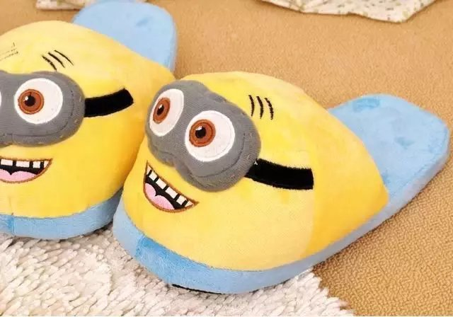 New Minions Despicable Me Animal Women Men Minion Plush Slippers Home Indoor Winter Adult Shoes Free shipping 3pcs set despicable me minion toys 3d minion plush toys baby stuffed plush dolls 18cm jorge dave kids plush toy ty29
