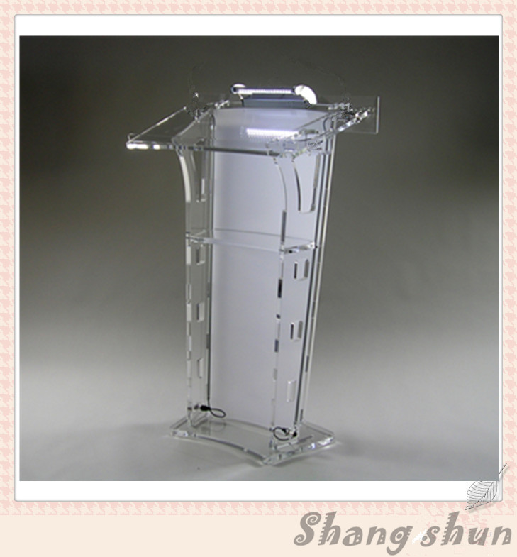 Plexiglass Church Pulpit Acrylic Clear Podium Pulpit Lectern (without light and microphone) hot sale fre shiping customized acrylic church lectern pulpit lectern podium cheap church podium
