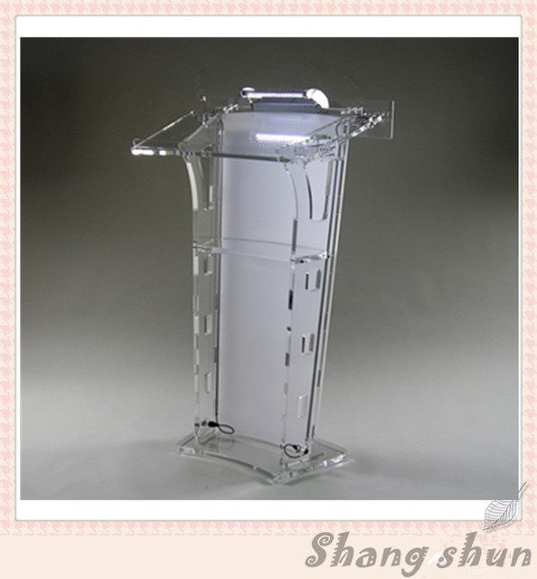 Plexiglass Church Pulpit Acrylic Clear Podium Pulpit Lectern (without light and microphone)