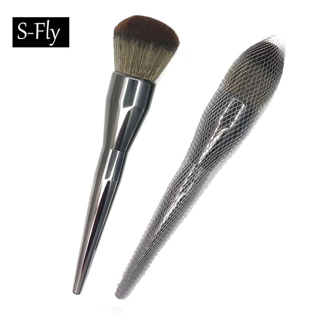 1pc Large Foundation Brush Powder Cosmetic Makeup Brush Blush Women Black  Color Face Professional Beauty Makeup Brushes Tool fcd9df1d9