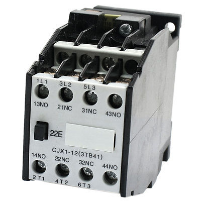 CJX1-12 AC Contactor Screw Terminal 110V 50HZ Coil 3 Phase 2NO 2NC sayoon dc 12v contactor czwt150a contactor with switching phase small volume large load capacity long service life