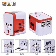 4 USB порт все в одном Универсальный международный переходник World Travel AC Power зарядное устройство с АС США Великобритании ЕС Plug