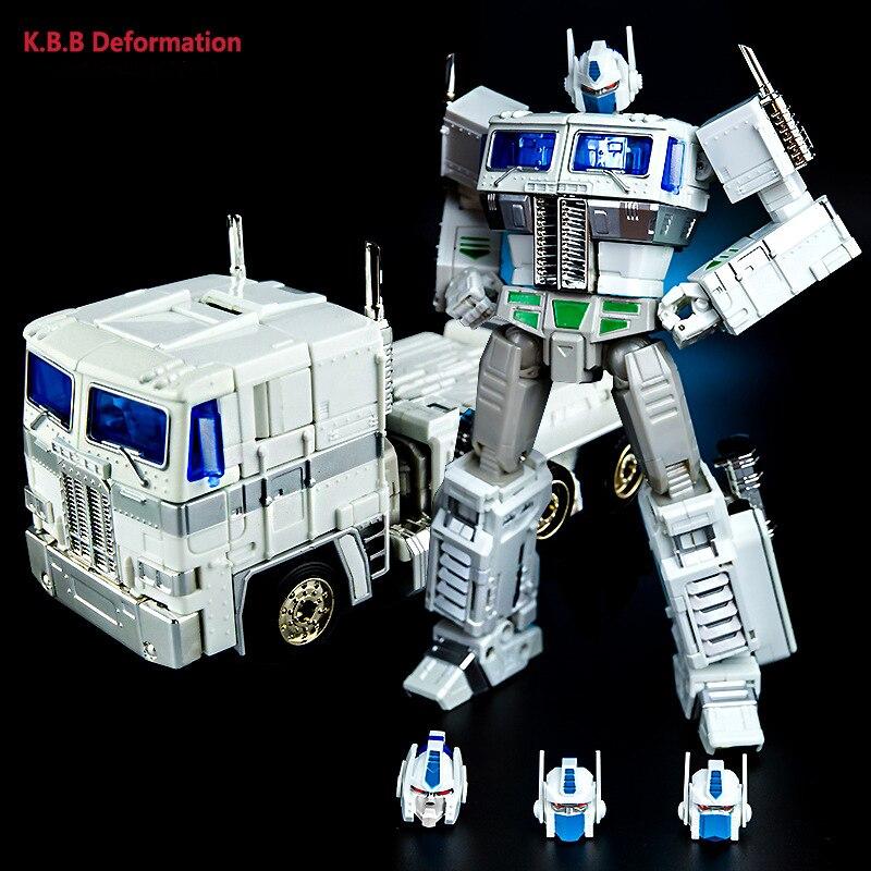 "MP10V G1 KBB Optimus Prime Autobot Transformer Container Metal Version 8/"" Figure"
