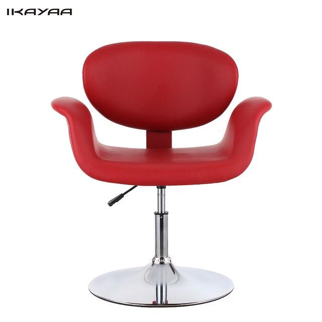 IKayaa NOUS Stock Moderne Ergonomique PU En Cuir Salon De Coiffure Chaise Tabouret Rembourre Pneumatique Haidresser