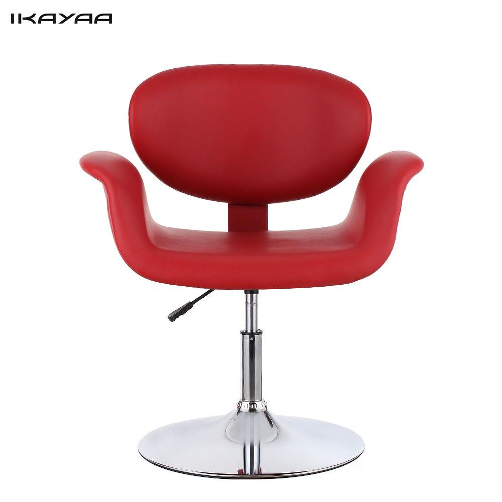 Modern barber chair - Ikayaa Us Stock Modern Ergonomic Pu Leather Salon Barber Chair Stool Padded Pneumatic Haidresser Chair Hair