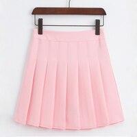 JD1191 חדש 2017 אונליין מצופה נשים מוצקה מיני חצאית חצאית חצאיות ללבוש תלמיד ילדה מתוק חמה למכירה משלוח חינם מוצר