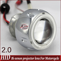 "Universal Motorcycle 35w 2""  mini high/low Hid Bi xenon Projector Lens Headlight Kit  CCFL Angel Eye and  Devil Eye Freeshipping"
