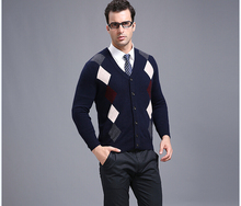 New arrival high quality 100% cashmere men v-neck long sleeve sweater cardigan