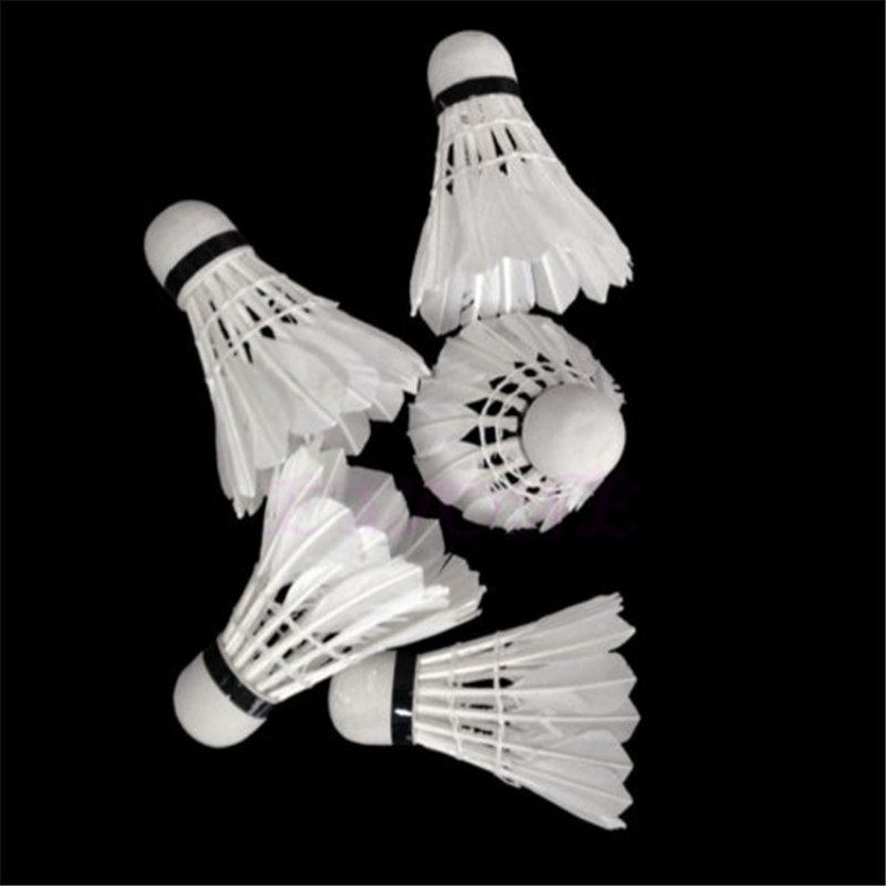 12X Sports Training White Goose Feather Birdies Badminton Ball Game Shuttlecocks