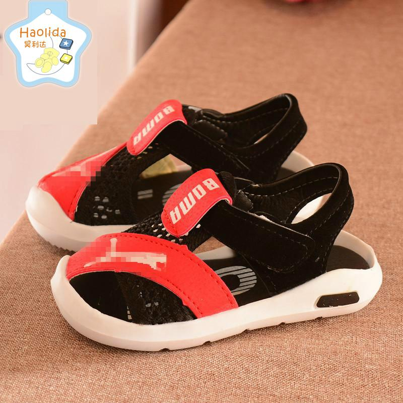2018 Summer New Fashion Childrens Sandals Beach Shoes Baby Boys And Girls Sports Shoes High Quality Breathable Soft Bottom Shoe ...