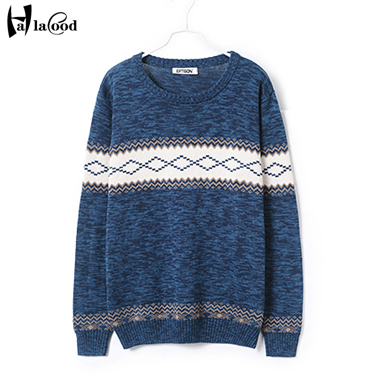 Hot sell autumn winter plus fertilizer large yards man male European version fat guy 8XL fashion jacquard round sleeved sweater