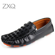 New Trend Size 39 44 Men Skull Loafer Shoes With Colorful Sole Slip On Men Driving