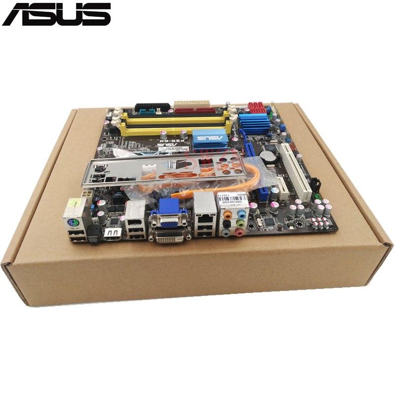 original Used Desktop motherboard For ASUS P5Q-EM G45 support LGA775  4*DDR2 support 16G 6*SATA II USB2.0 u ATX asus ipm31 support ddr2 775 pin integrated motherboard g31 founder haier original machine