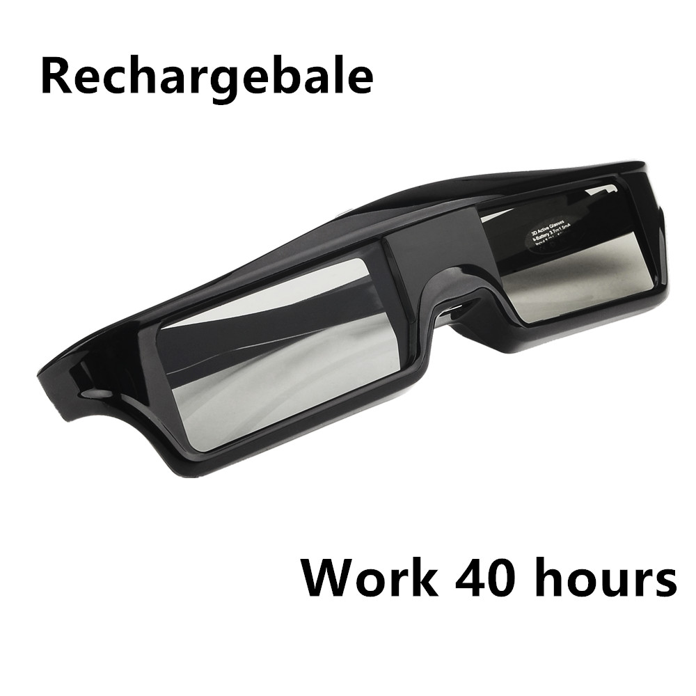 Active Shutter 3d Glasses Usb Charge For Universal Tv Panasonic Working Of 3 D Long Time Black Projectors And In Virtual Reality